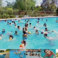 Piscina Semi Olímpica e piscina para crianças com cascata e chafariz