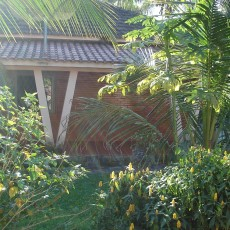 Vista lateral da Casa