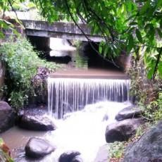 Cachoeira que passa pelo sítio