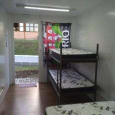 Suites com ar condicionado.